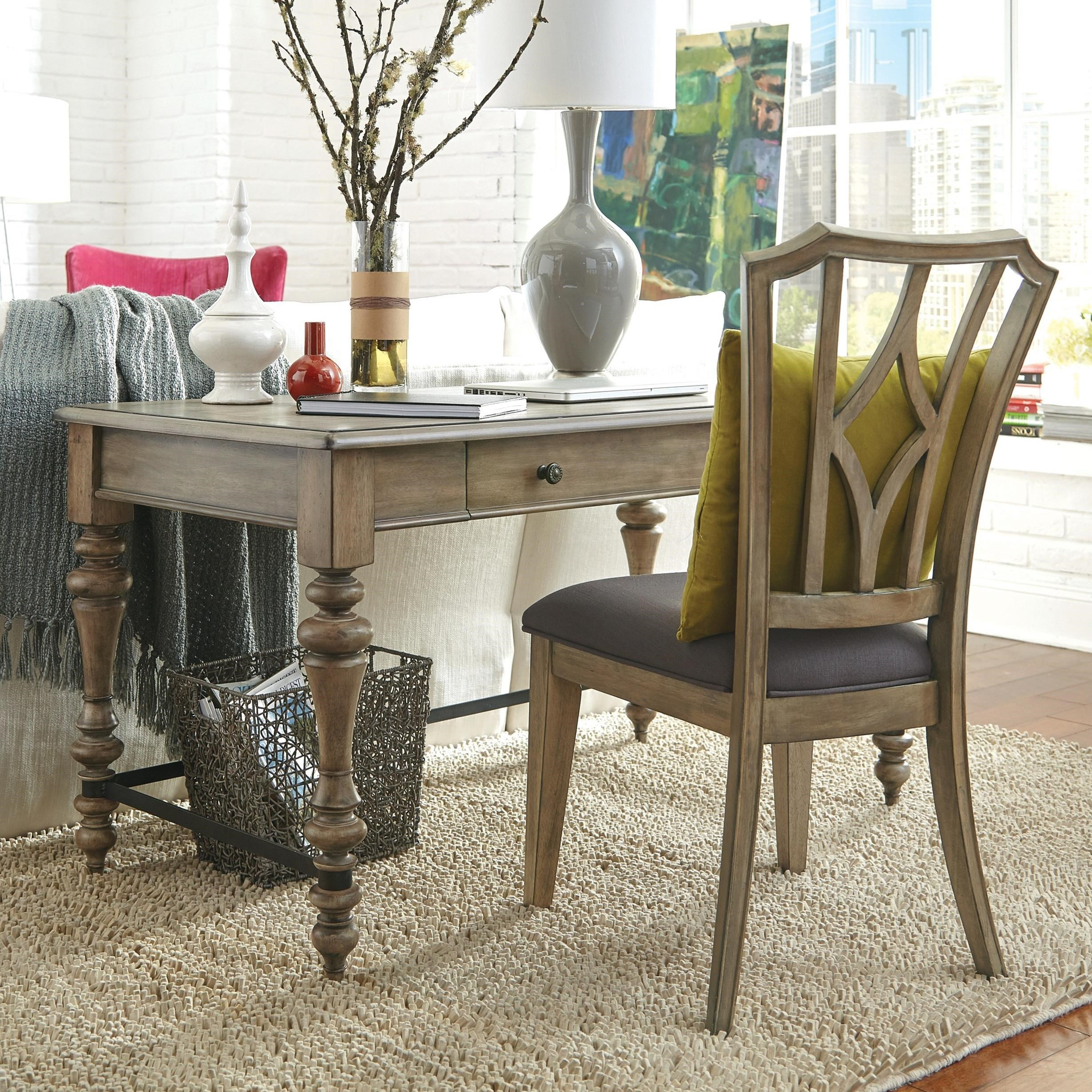 Writing Desk With Electric Outlet Bar. Low Price Guarantee Badge By Riverside  Furniture