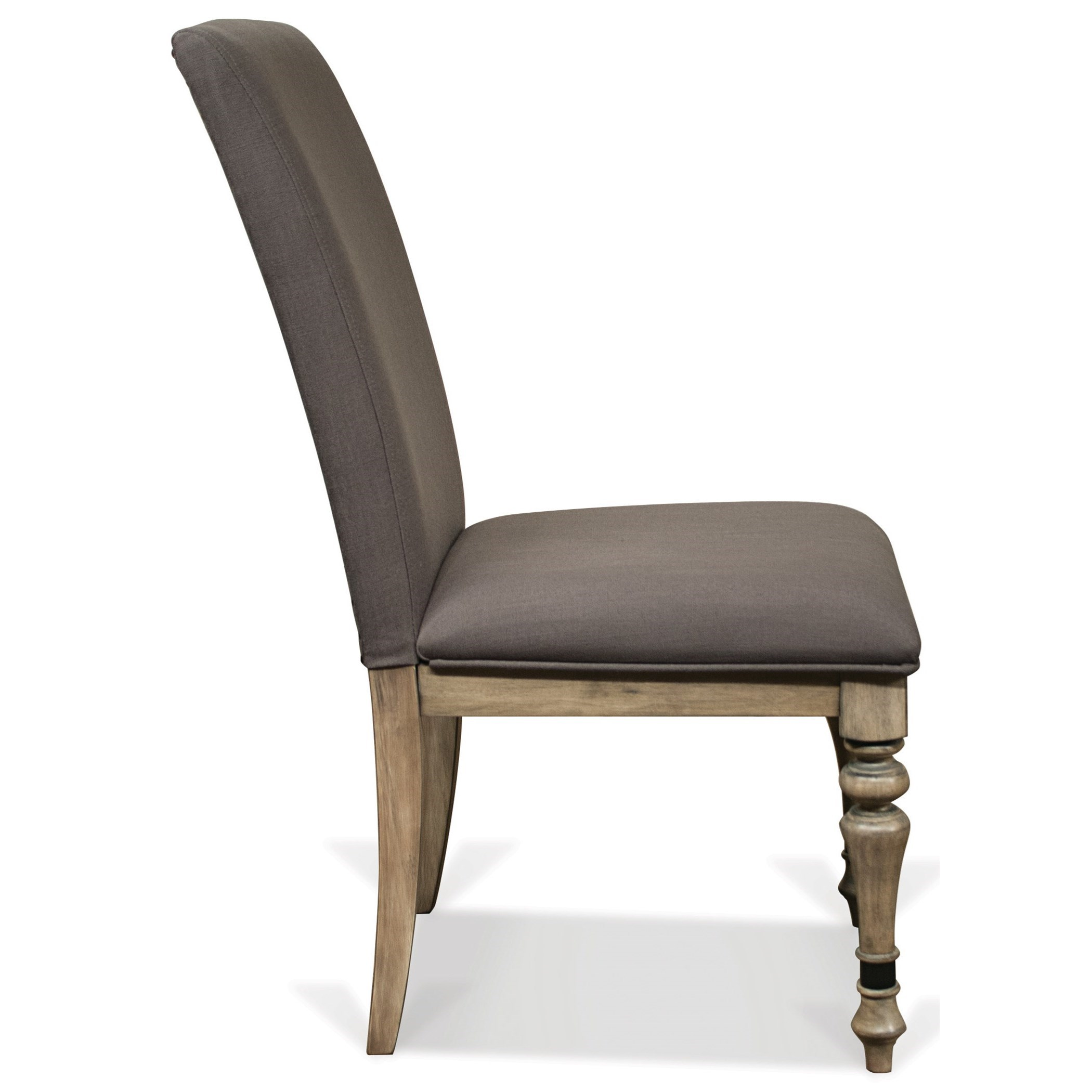 Upholstered Side Chair With Front Turned Legs By Riverside Furniture Wolf And Gardiner Wolf