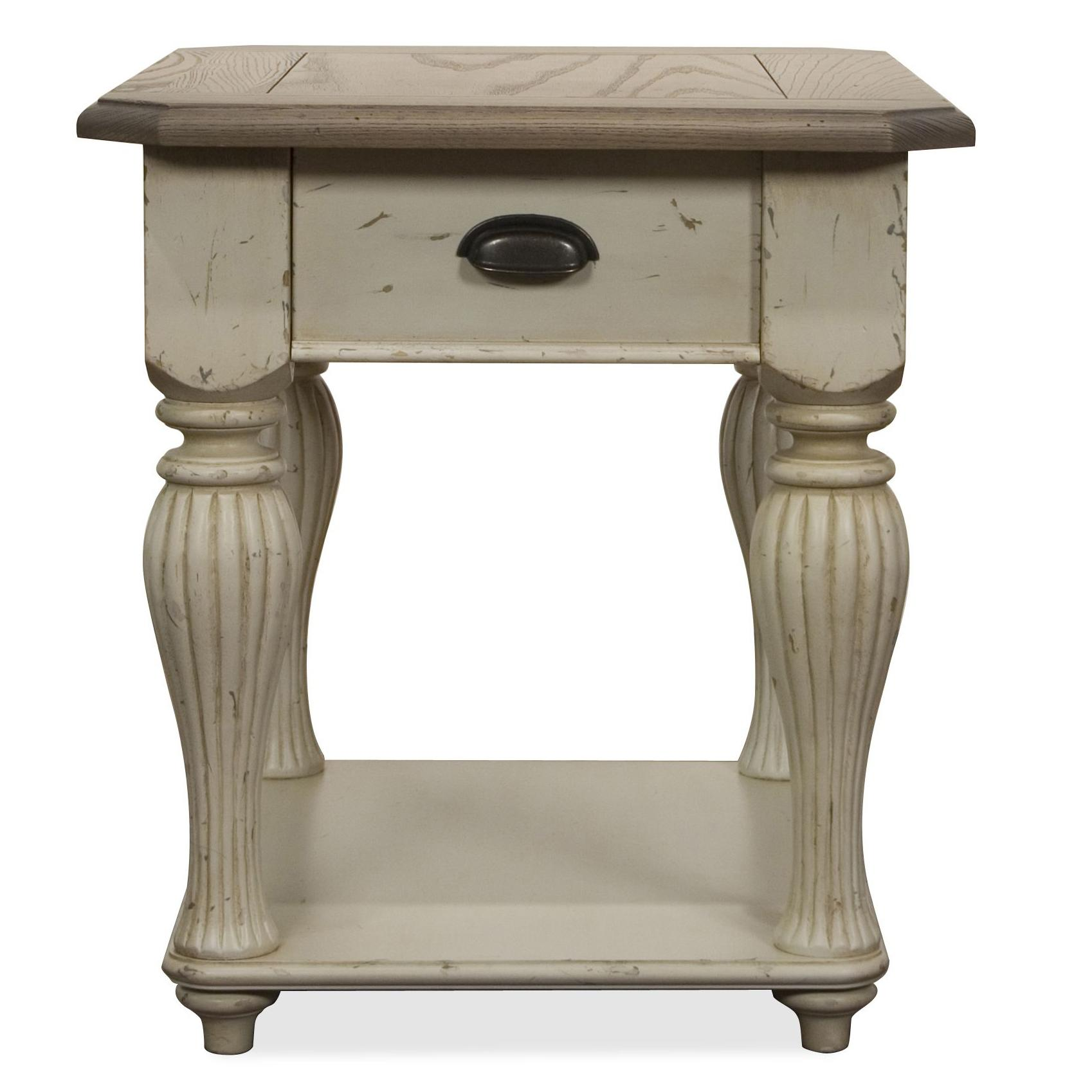Rectangular End Table by Riverside Furniture   Wolf and Gardiner ...