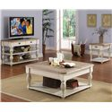 Riverside Furniture Coventry Two Tone Rectangular End Table - Shown with Console Table & Coffee Table