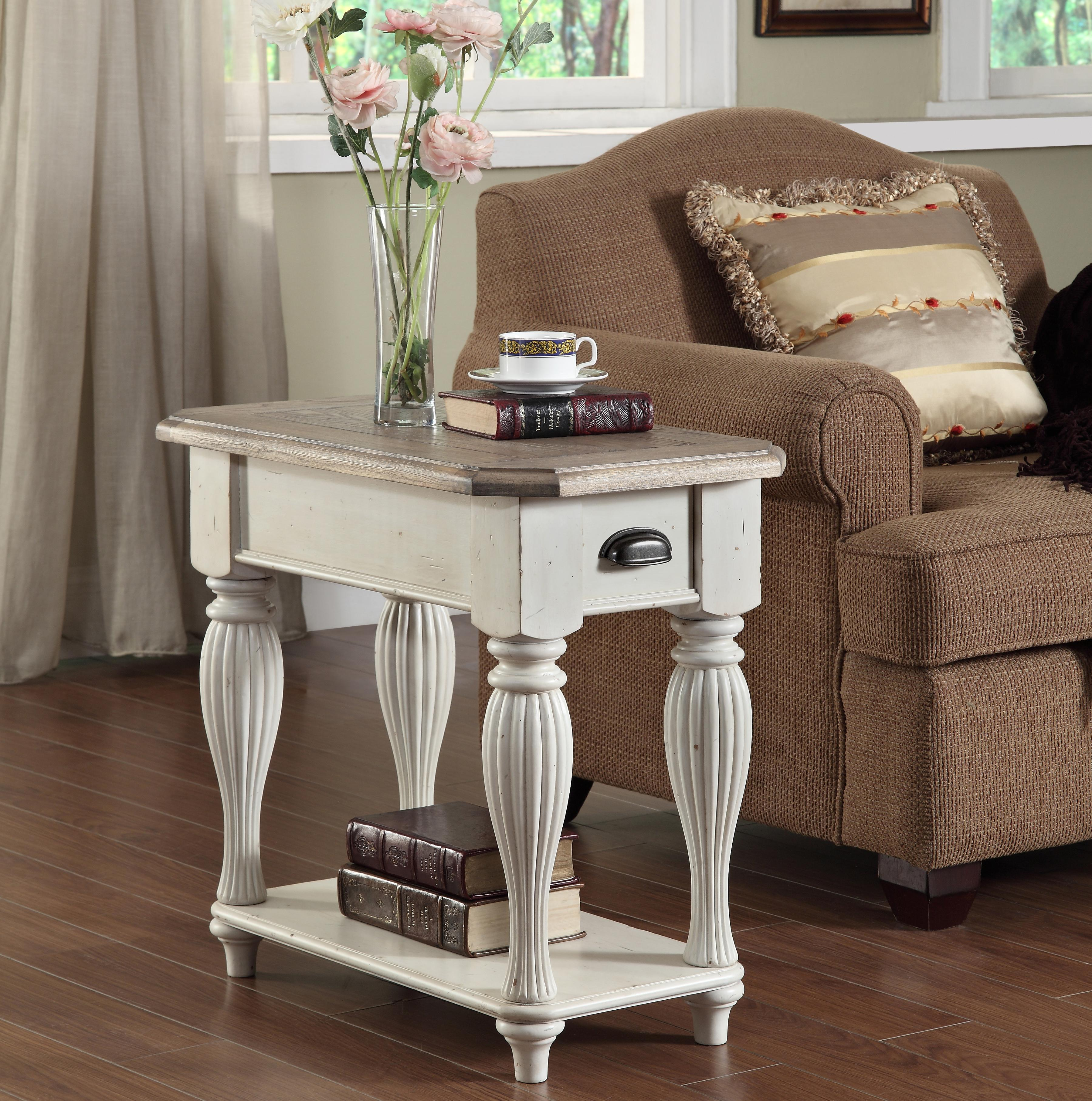 Chairside Table With Fixed Bottom Shelf By Riverside