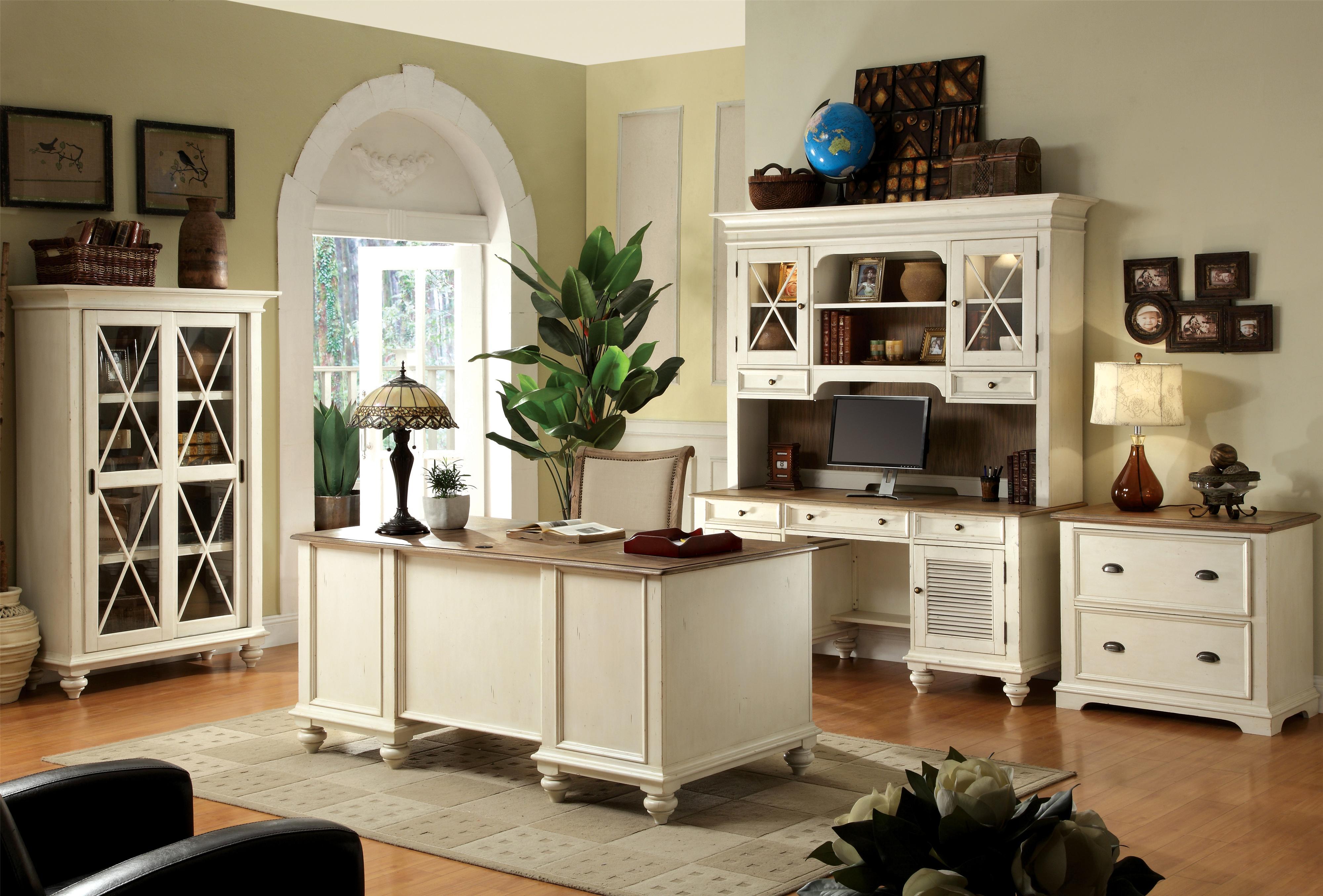 Shutter Door Credenza Desk With 2 Doors. By Riverside Furniture