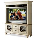 Riverside Furniture Coventry Two Tone TV Console & Hutch - Item Number: 32540+42