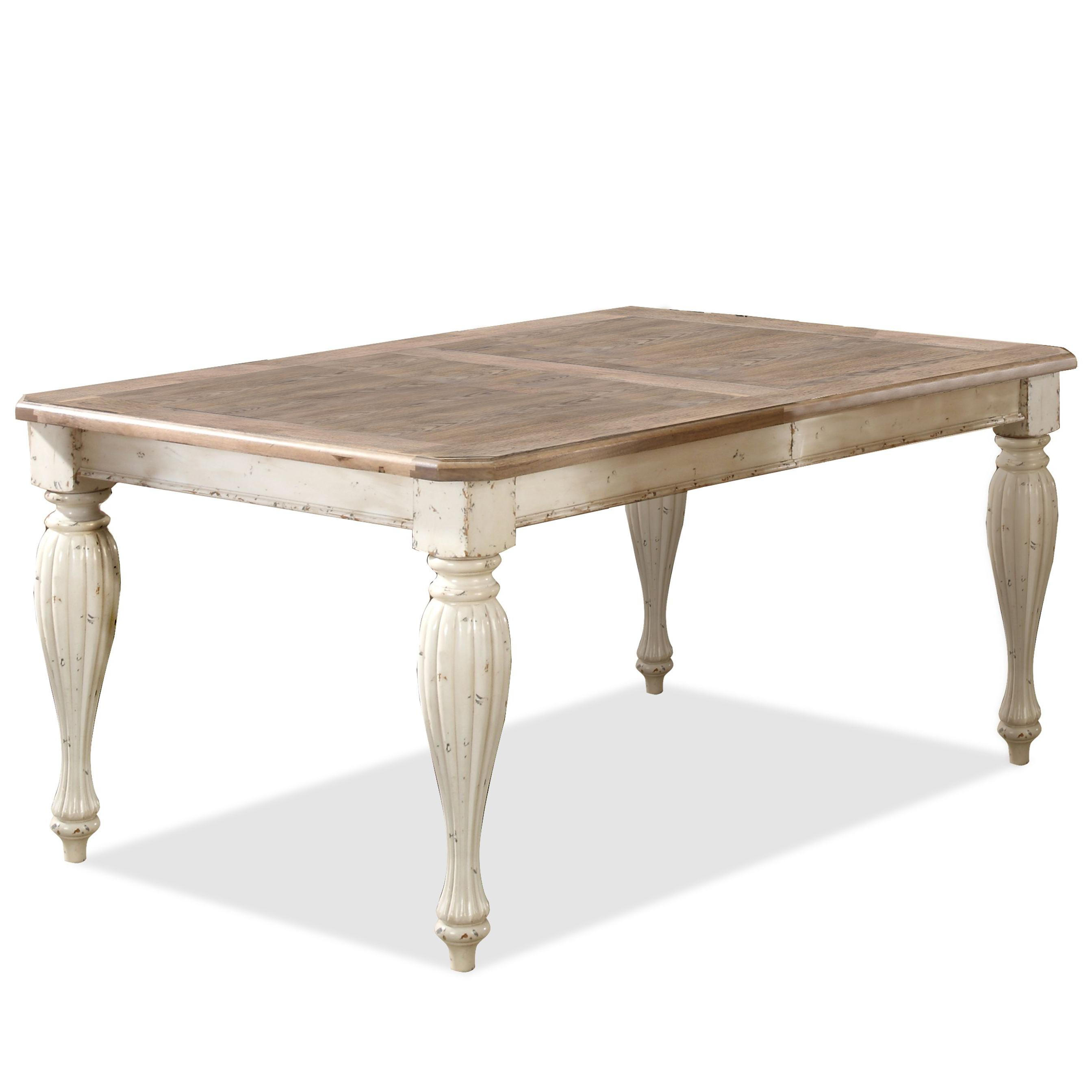"Rectangular Dining Room Tables With Leaves: Rectangular Leg Dining Table With 18"" Leaf By Riverside"