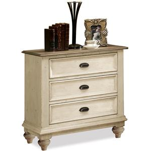 Riverside Furniture Coventry Two Tone 3-Drawer Night Stand