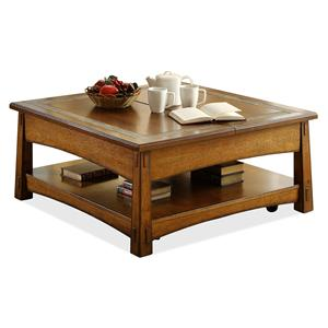 Riverside Furniture Craftsman Home Square Lift-Top Cocktail Table