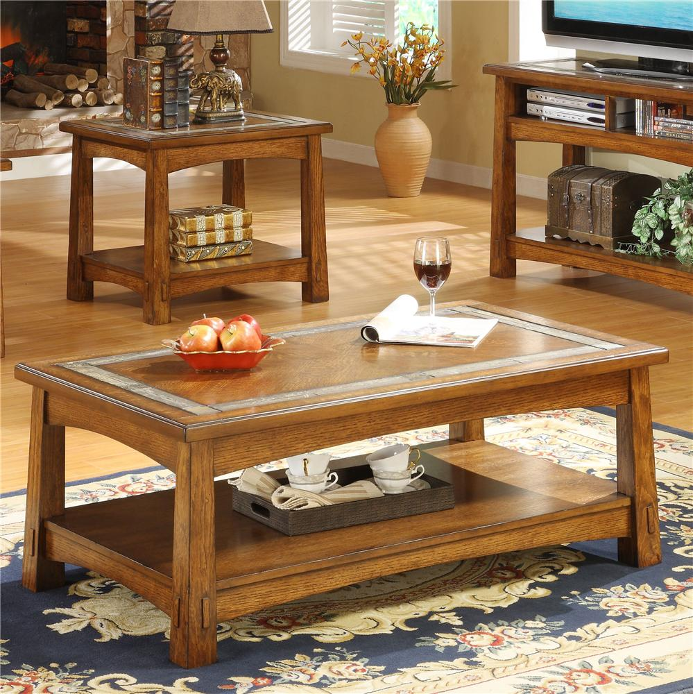 Slate Coffee Table With Drawers: Rectangular Coffee Table With A Slate Tile Boarder By