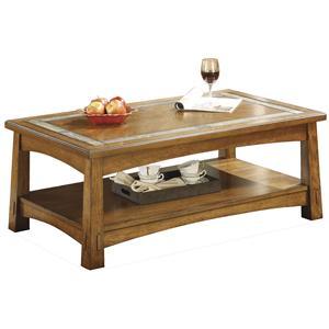 Riverside Furniture Craftsman Home Rectangular Coffee Table