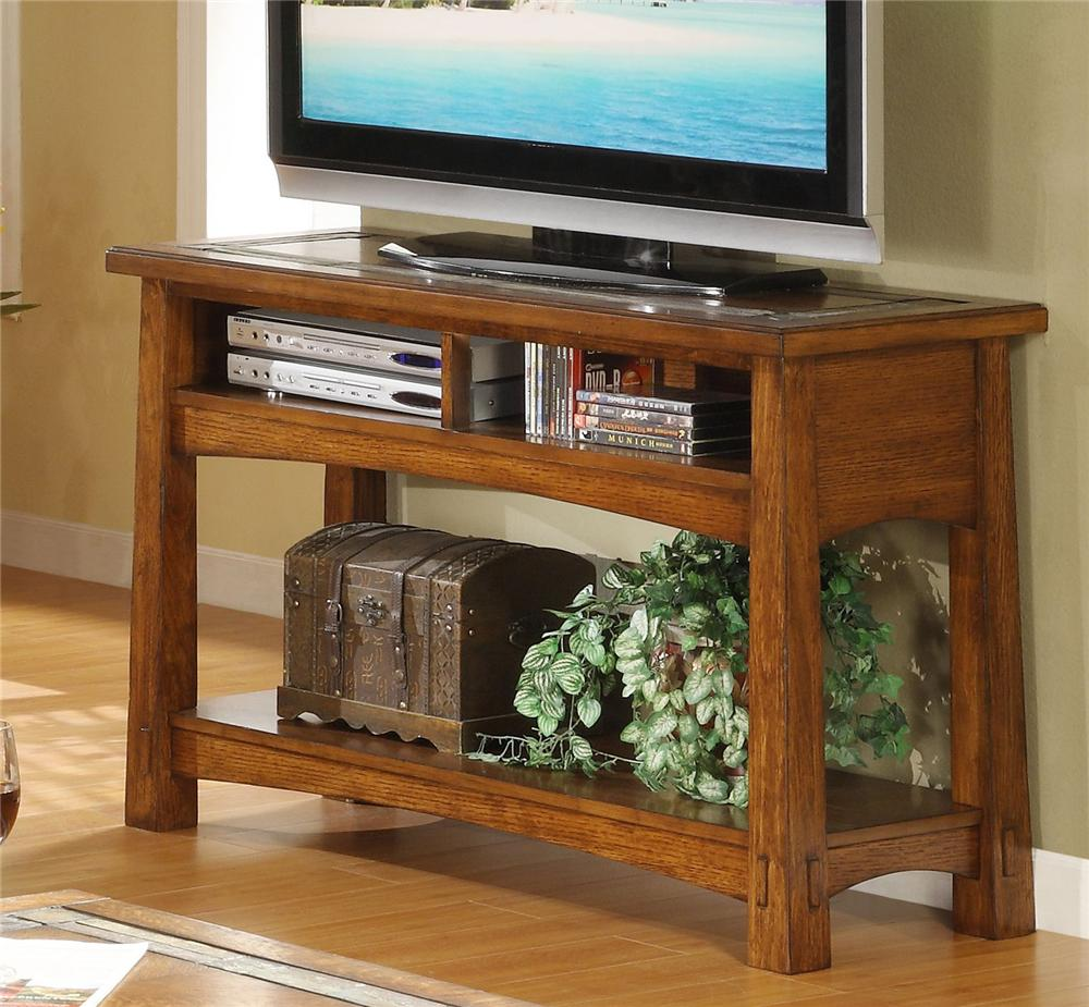 Nice Console Table With Slate Tile Boarder