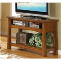Riverside Furniture Craftsman Home Console Table with Slate Tile Boarder - Shown in a Room Setting