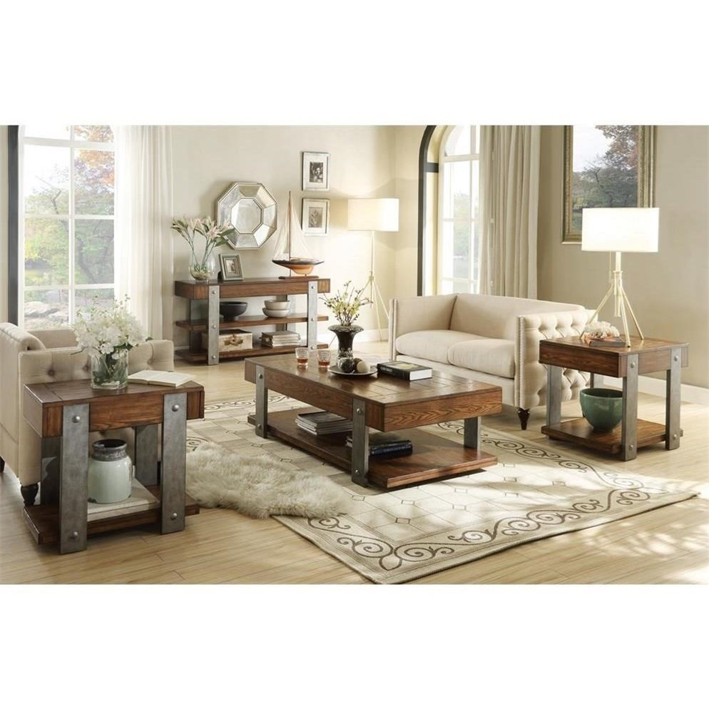 Urban Rustic 1 Drawer Sofa Table by Riverside Furniture | Wolf and ...
