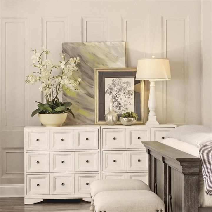 3 Drawer Bunching Chest With Electric/USB Outlet Bar. Low Price Guarantee  Badge By Riverside Furniture
