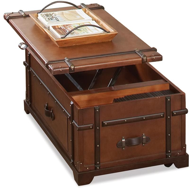 Barrett Trunk Coffee Table With Lift Top: Steamer Trunk Lift Top Cocktail Table By Riverside
