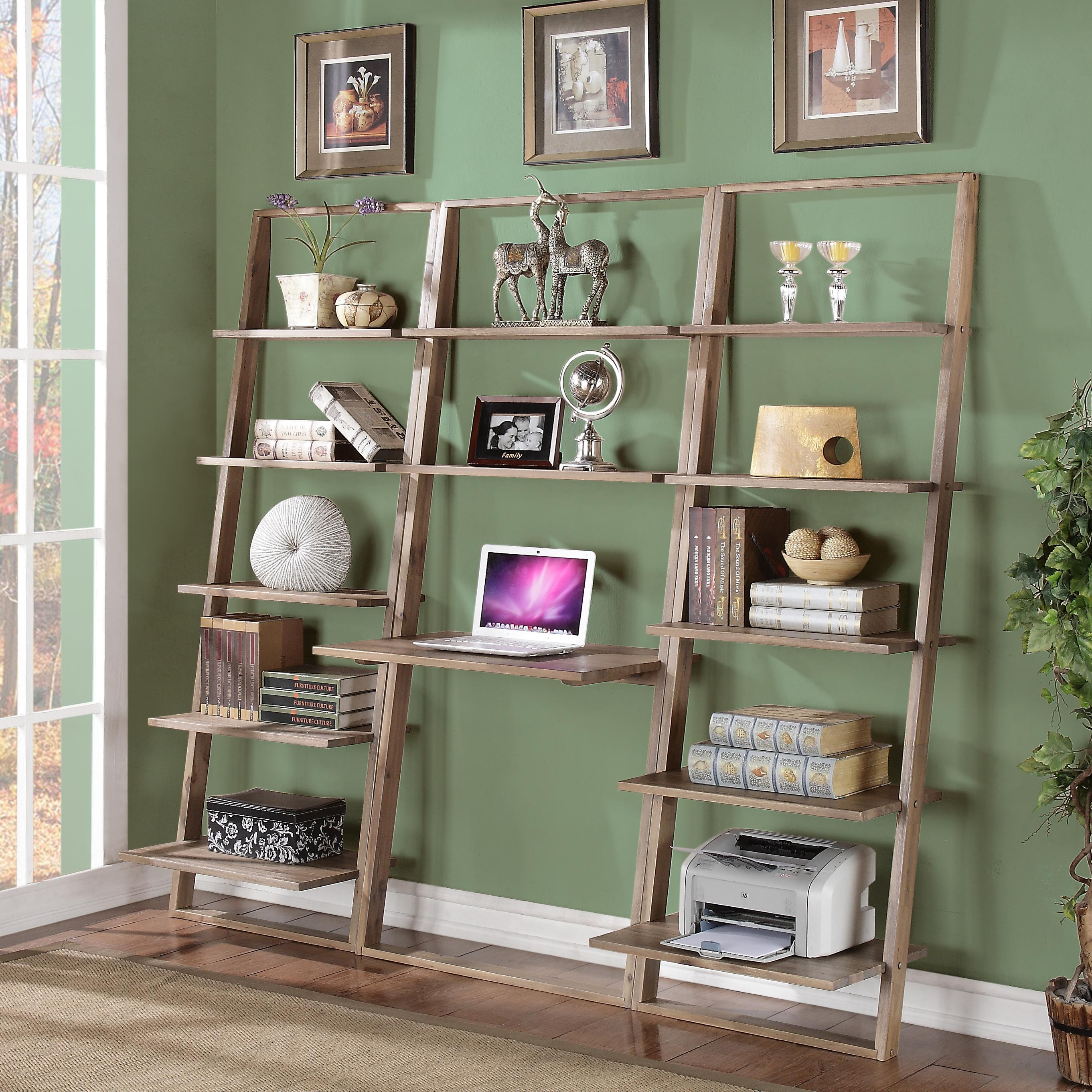 items included in this group leaning bookcase