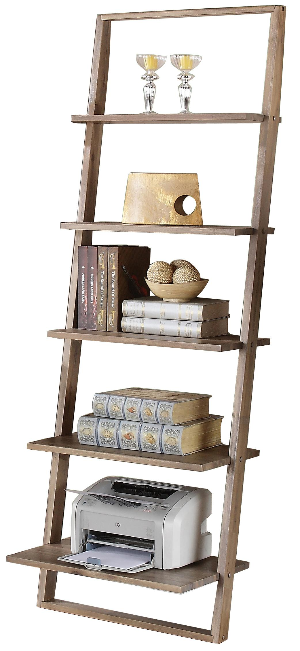 Leaning Bookcase With 5 Shelves