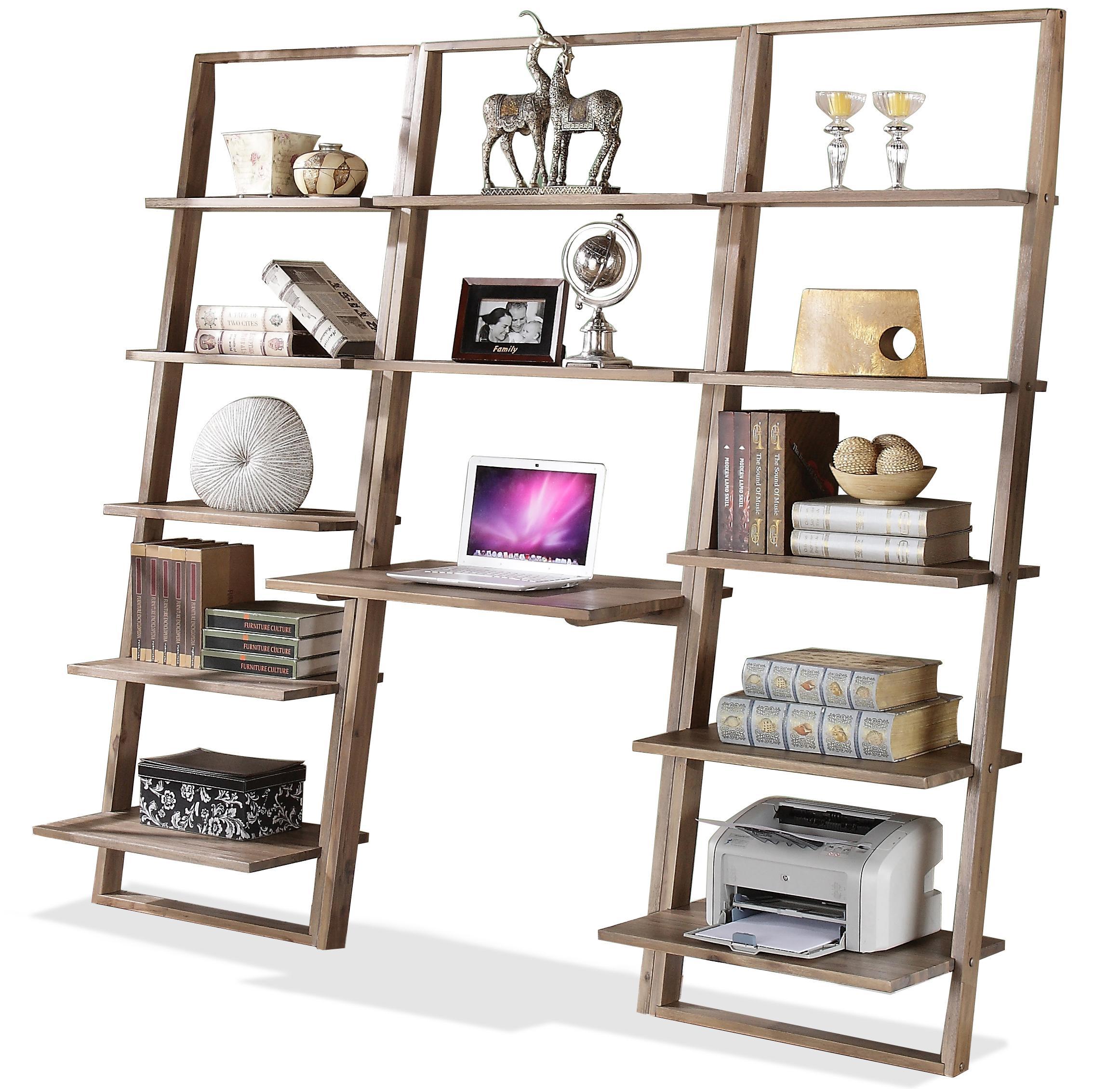 costway black 5tier bookshelf leaning wall shelf ladder book