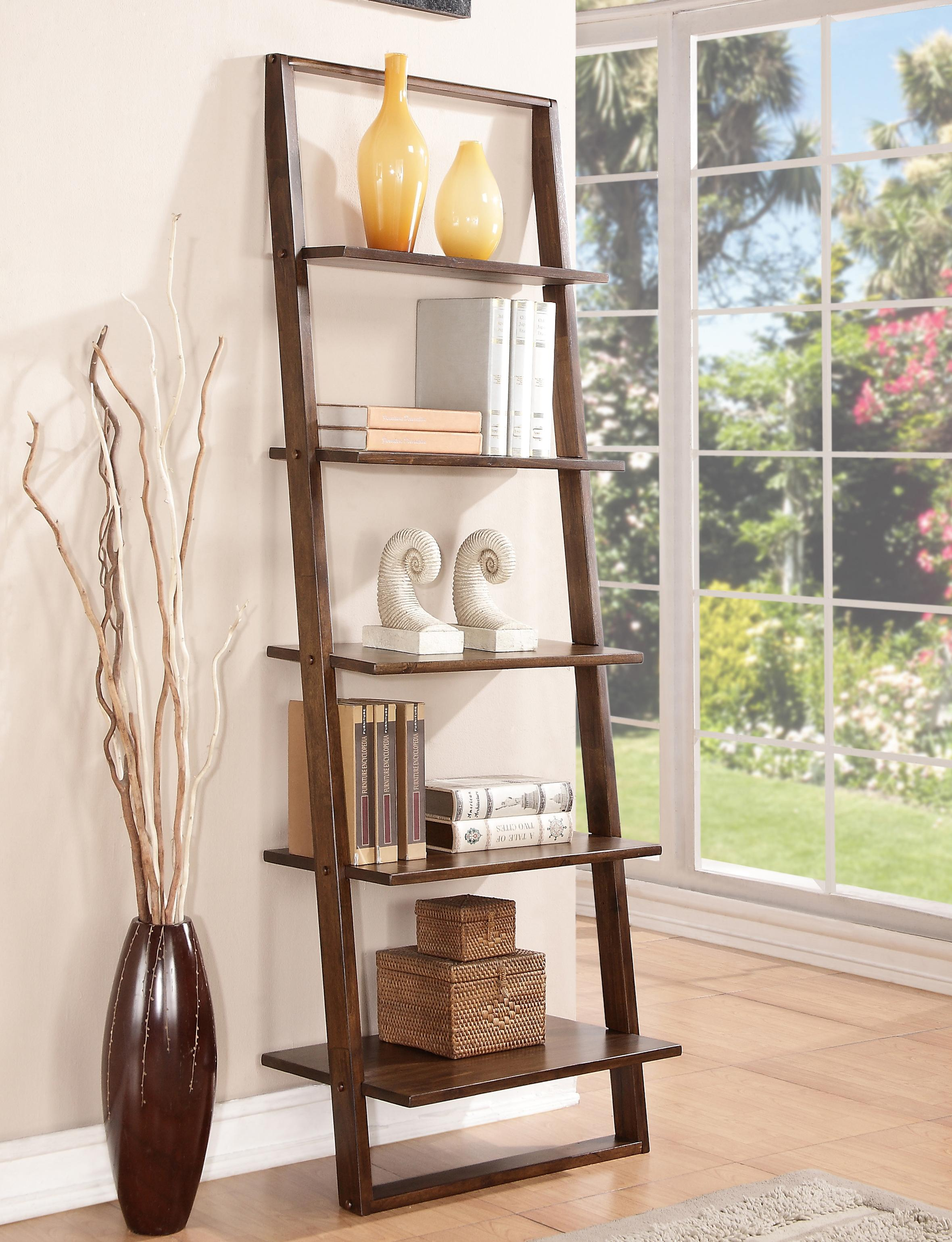 Leaning Bookcase with 5 Shelves by Riverside Furniture