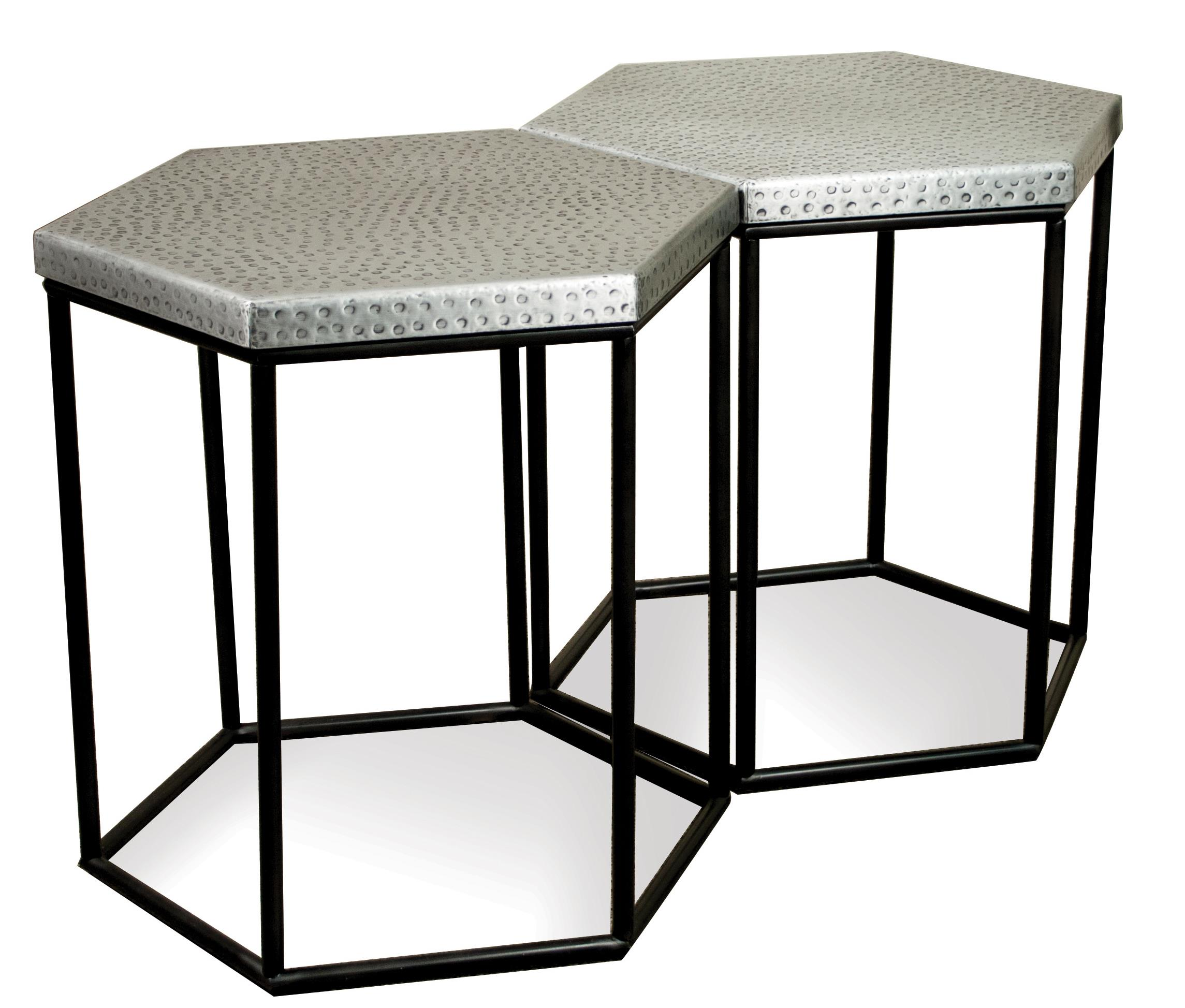 Industrial Hexagon Side Table By Riverside Furniture Wolf And - Hex coffee table
