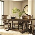 Riverside Furniture Newburgh Server with 5 Drawers - Shown with Rectangular Dining Table and Side Chairs