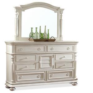 Riverside Furniture Placid Cove Dresser & Mirror