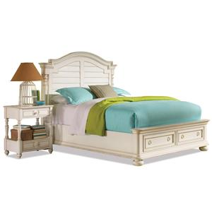 Riverside Furniture Placid Cove Queen Arch Storage Bed