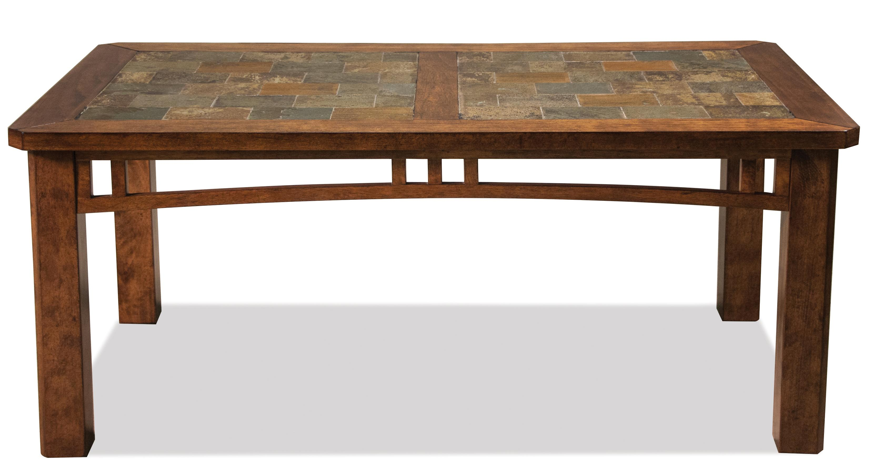 Coffee table w slate top by riverside furniture wolf and coffee table w slate top geotapseo Image collections