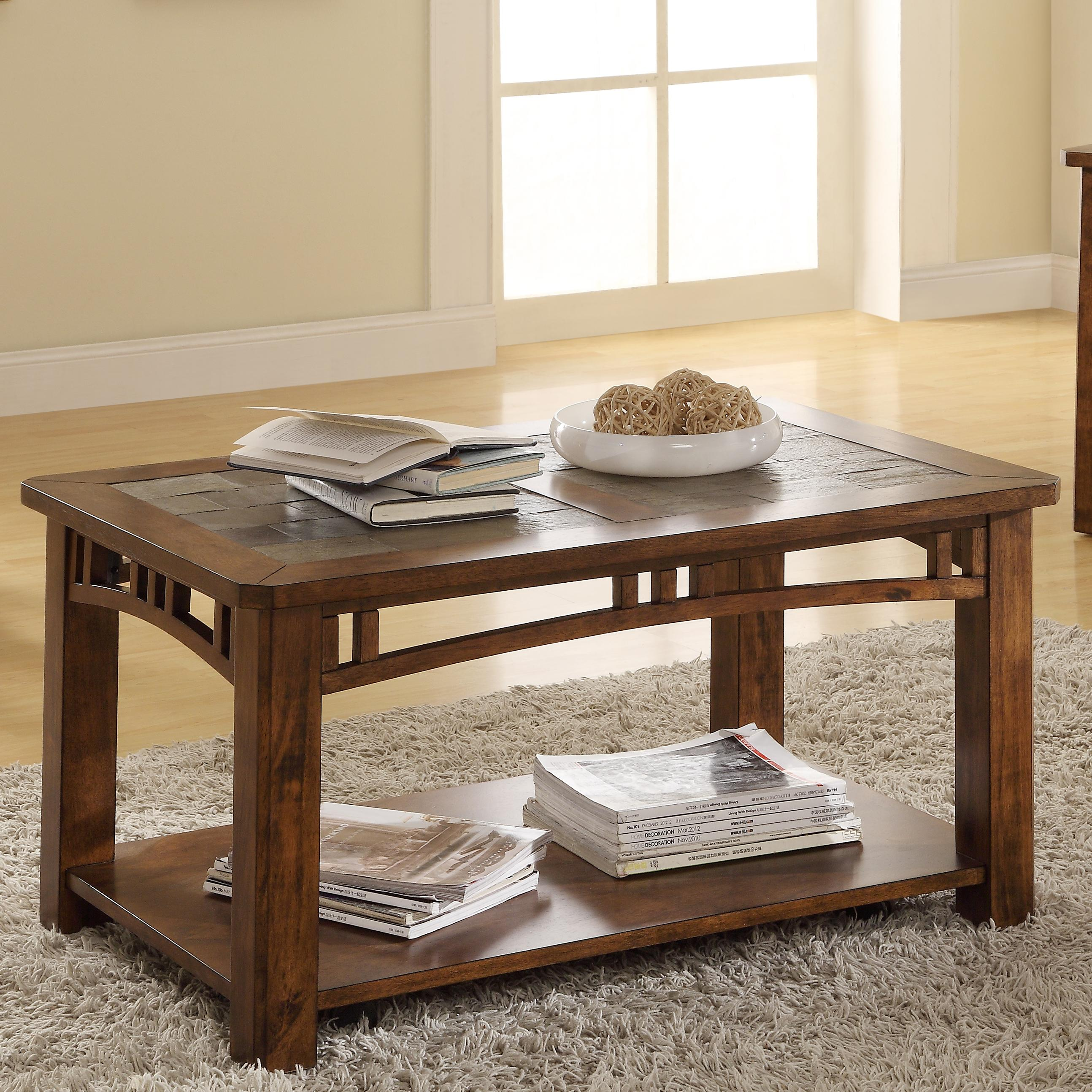 Coffee table w casters by riverside furniture wolf and Coffee tables with casters