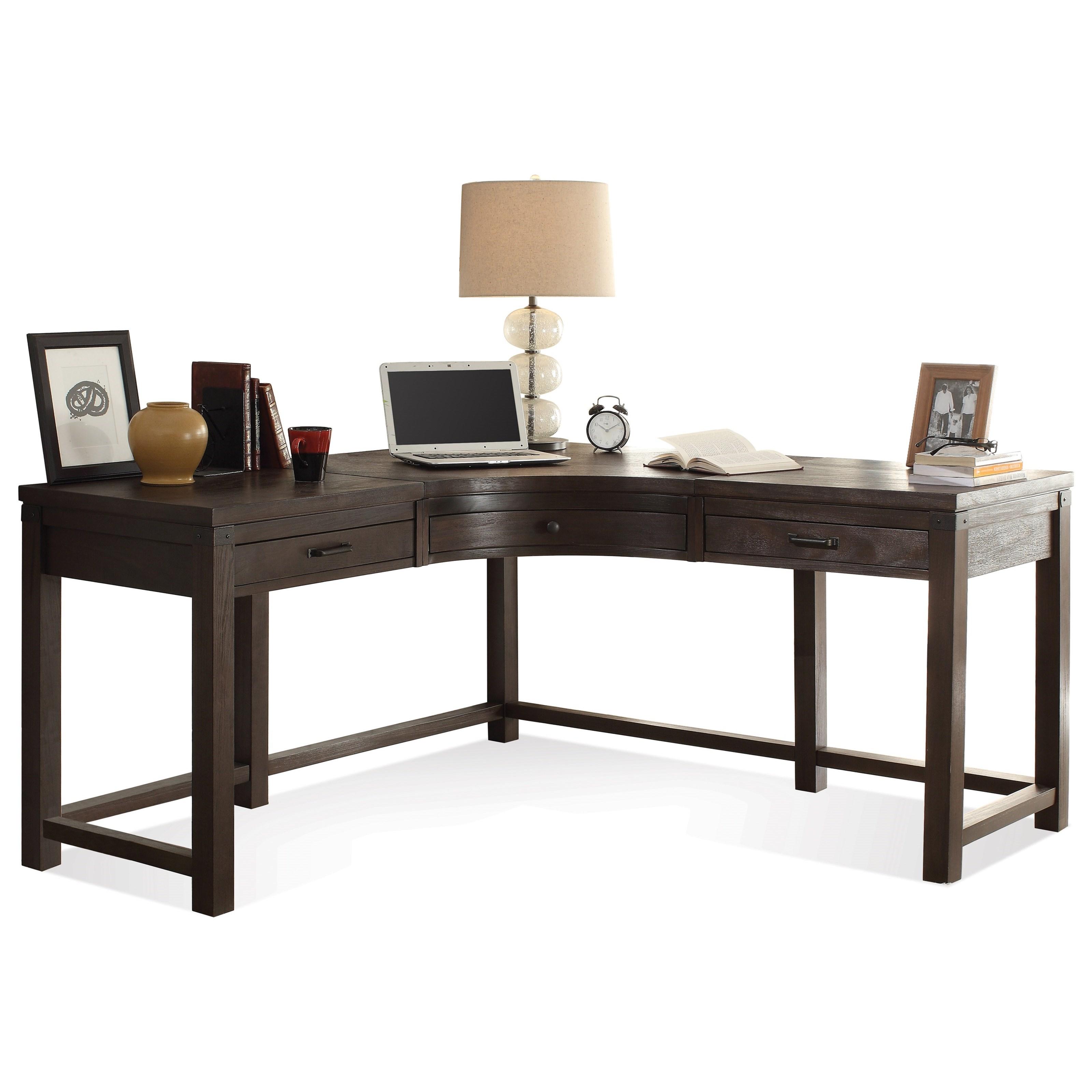 3 Drawer Curved Corner Desk by Riverside Furniture