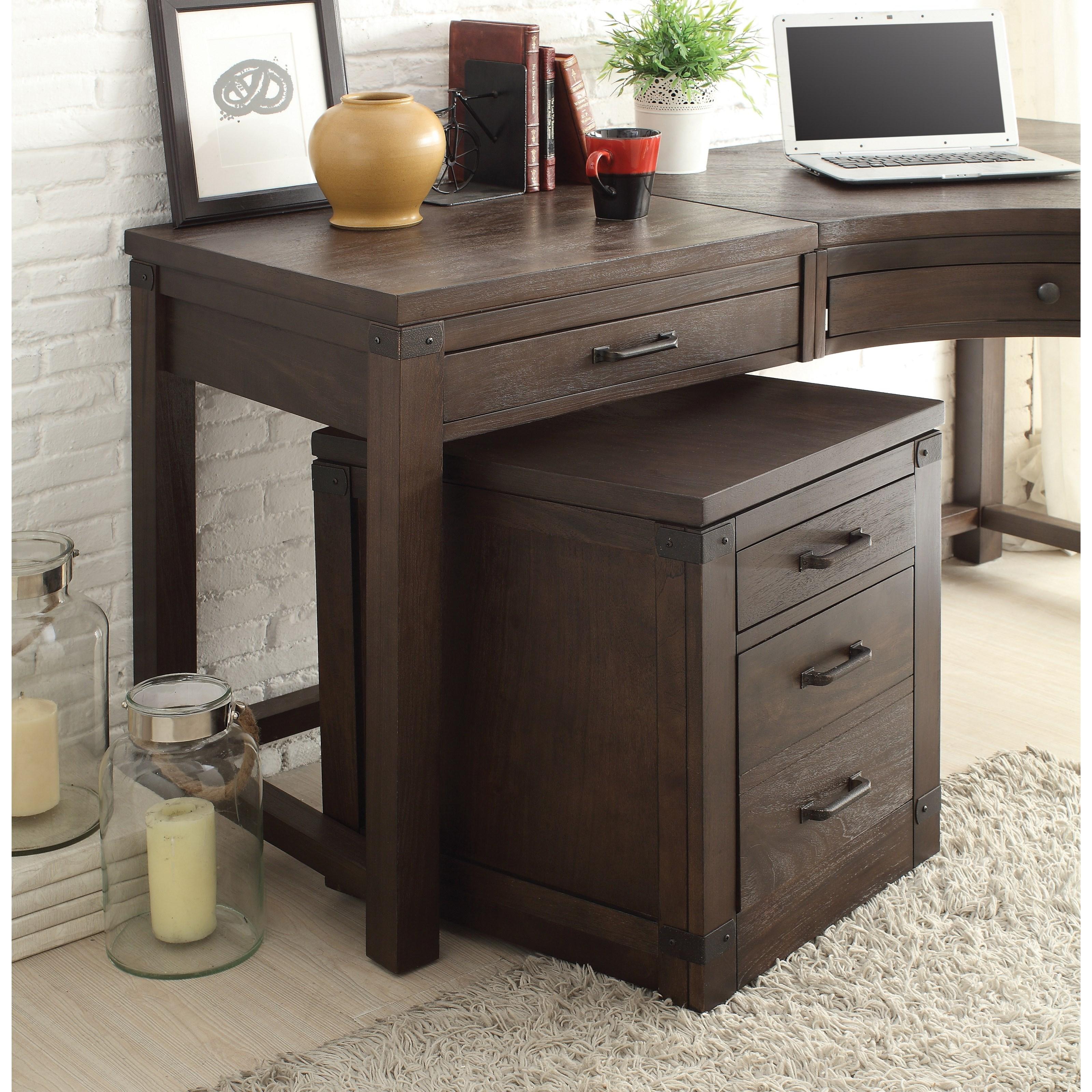 Perfect 3 Drawer Curved Corner Desk. By Riverside Furniture