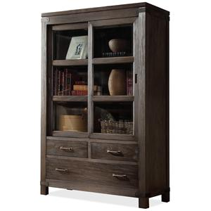 Riverside Furniture Promenade  Sliding Door Bookcase