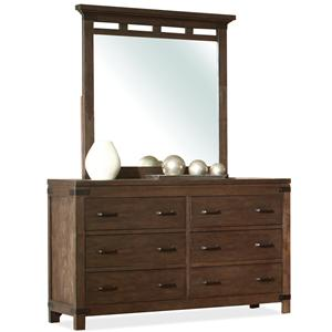 Riverside Furniture Promenade  Dresser & Mirror