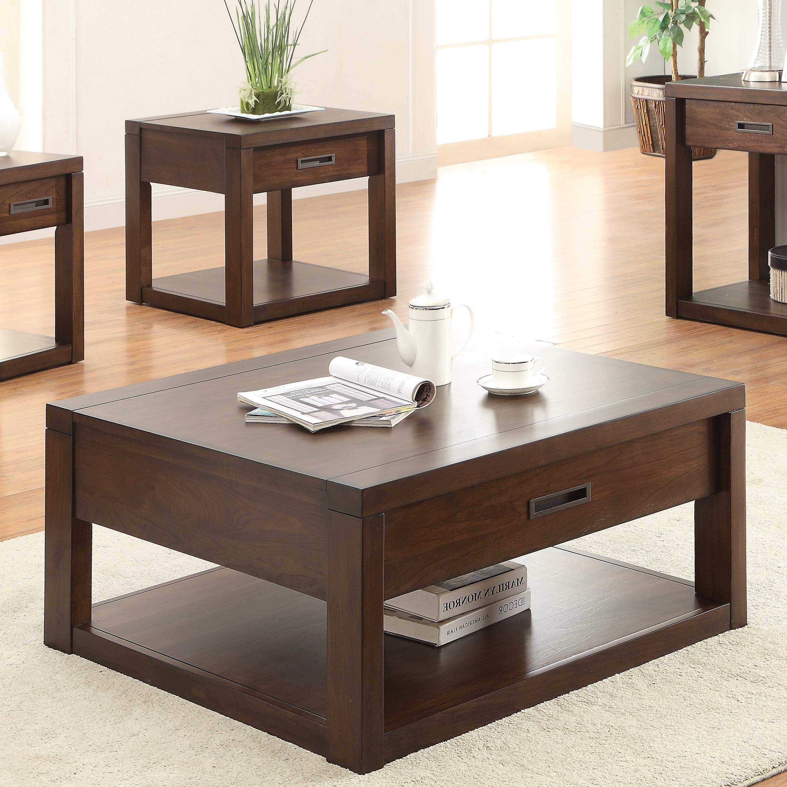 square cocktail table w
