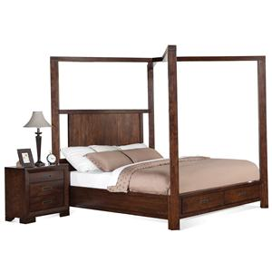 Riverside Furniture Riata Queen Canopy Storage Bed
