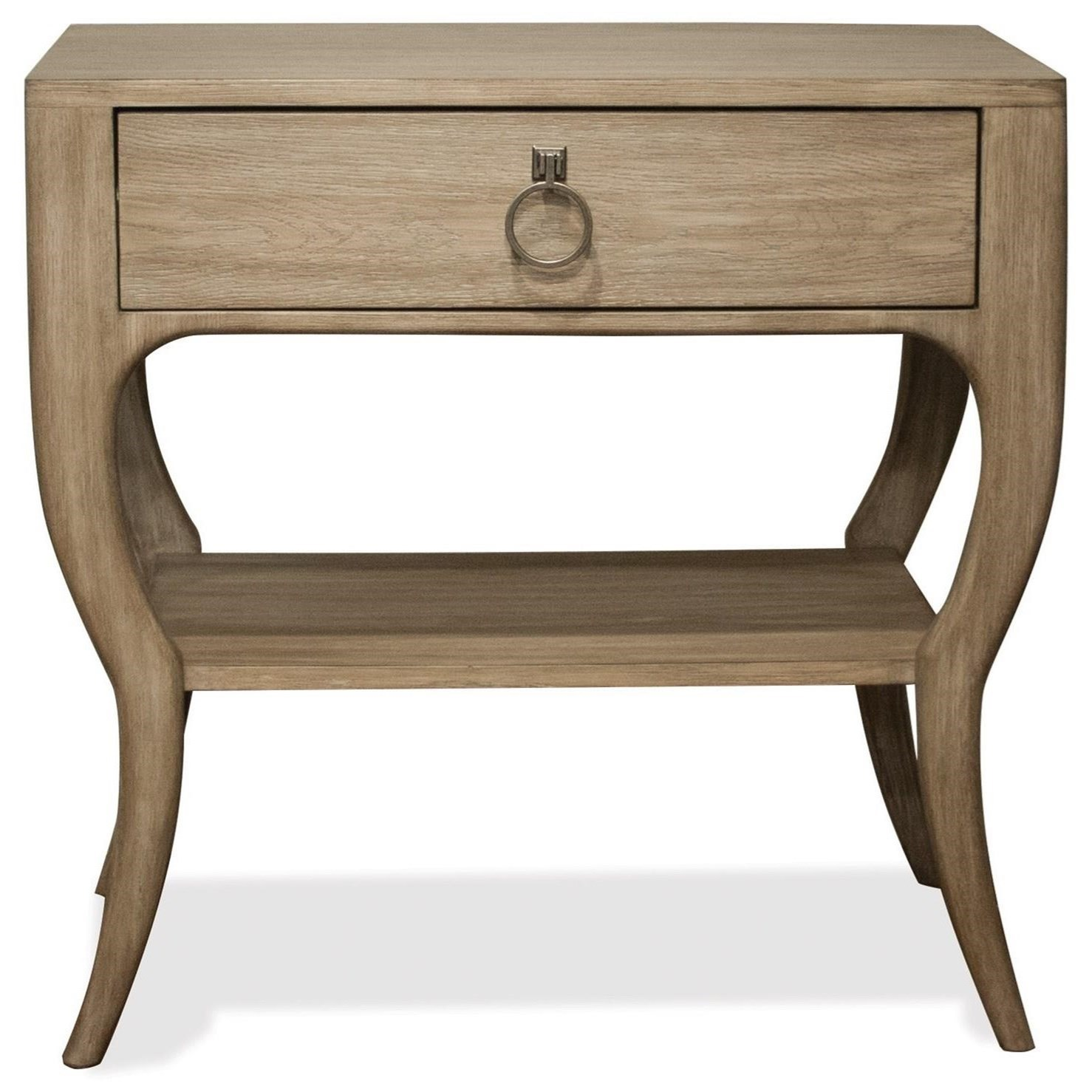 Accent Nightstand With Ring Pull Hardware