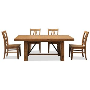 Riverside Furniture Summer Hill 5 Piece Table & Chair Set