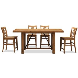 Riverside Furniture Summer Hill 5 Piece Pub Table & Chair Set