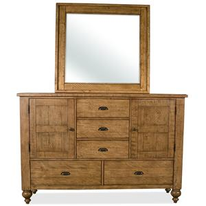 Riverside Furniture Summer Hill Dresser & Mirror