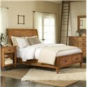 Riverside Furniture Summer Hill Queen Low Profile Storage Bed