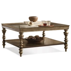 Square Coffee Table W Self