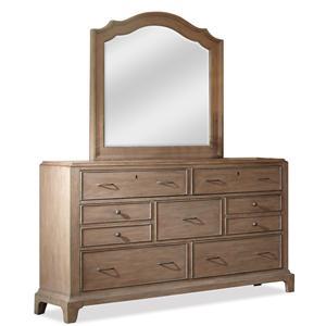Riverside Furniture Windhaven Dresser & Mirror