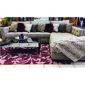 Del Sol Exclusive Adele V 2 pc sectional