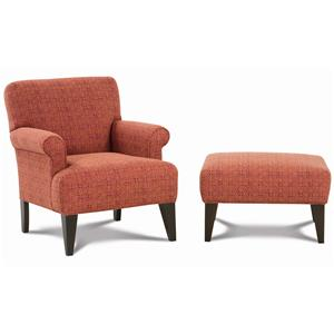 Rowe Chairs and Accents Roma Chair & Ottoman