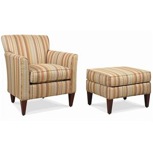 Rowe Chairs and Accents Times Square Chair and Ottoman