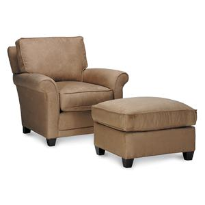 Rowe Chairs and Accents Mayflower Chair and Ottoman