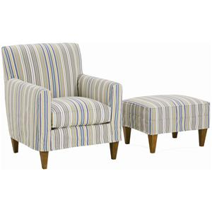 Rowe Chairs and Accents Ellery Chair and Ottoman
