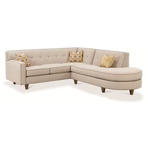 Rowe Dorset Contemporary 2 Piece Sectional Sofa