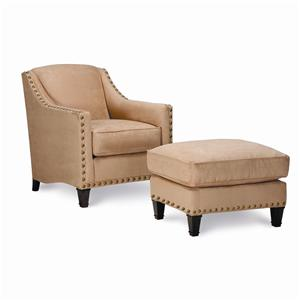 Rowe Rockford Traditional Upholstered Chair & Ottoman