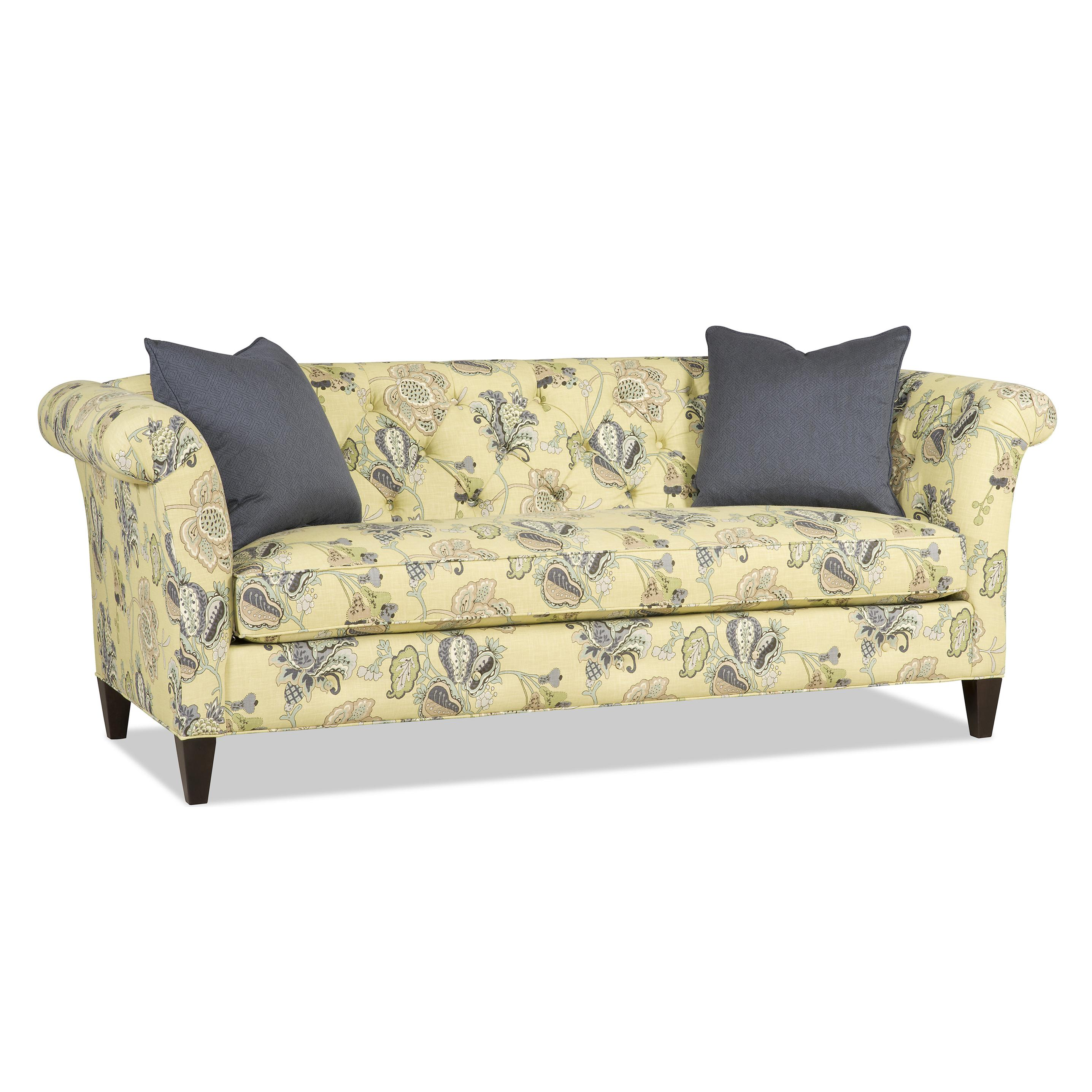 Traditional Bench Sofa with Tufted Back by Sam Moore