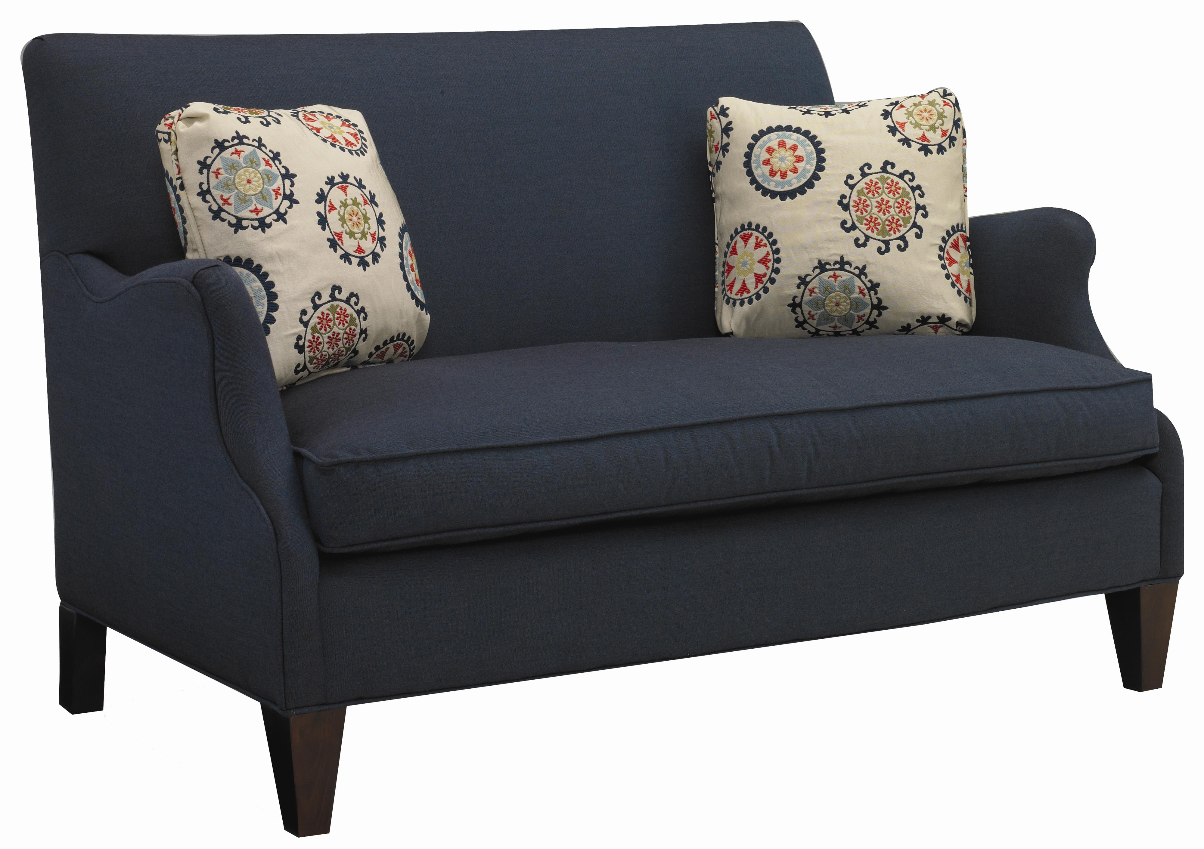 Contemporary Settee with Romantic Curved Arm by Sam Moore | Wolf ...