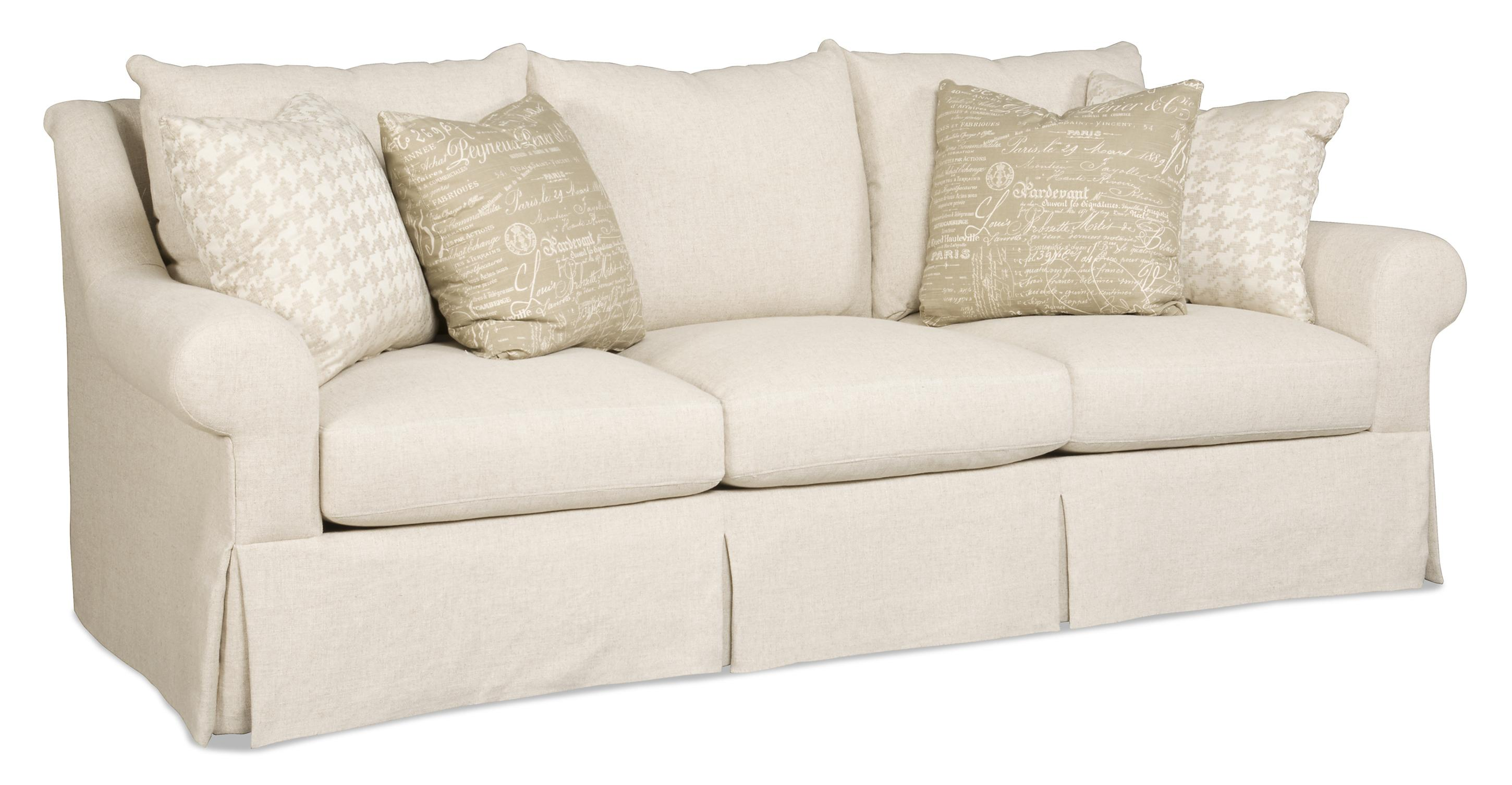 Traditional Skirted Three Over Three Sofa